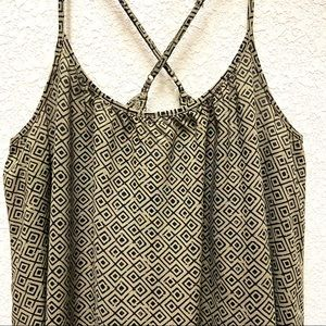 Old Navy Olive Green Spaghetti Strap Swing Cami- M